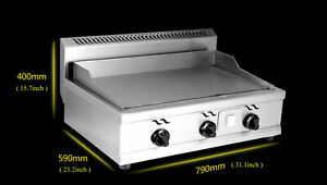 Kitchen Teppanyaki Natural Gas Countertop Flat Griddle Grill Machine Crepe Cook