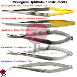Castroviejo Micro Surgery Needle Holder Suture Forceps Scissors Ophthalmic Plier