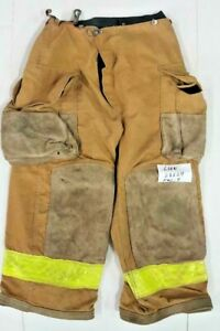 28x24 Lion Brown Pants Firefighter Turnout Bunker Fire Gear No Liner Pnl 9