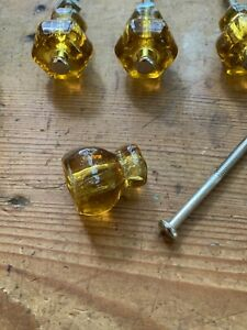 13 Light Amber 1 Glass Cabinet Knobs