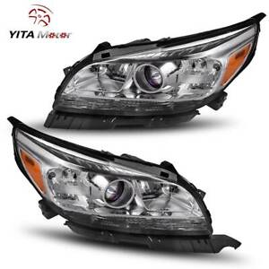 Yitamotor Projector Headlight For 2013 2014 2015 Chevy Malibu Headlamps Pair L R