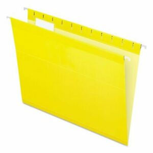 Pendaflex Reinforced Hanging File Folders Letter Yellow 25 box pfx415215yel