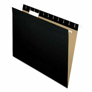 Pendaflex Hanging File Folders 1 5 Tab Letter Black 25 box pfx81605