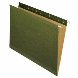 Pendaflex Hanging File Folders Untabbed Letter Green 25 Folders pfx4152