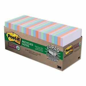 Post it Super Sticky Notes Cabinet Pack 3 X 3 24 70 sheet Pads mmm65424nhcp
