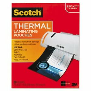 Scotch Thermal Laminating Pouch 11 1 2 X 9 50 Pouches mmmtp385450