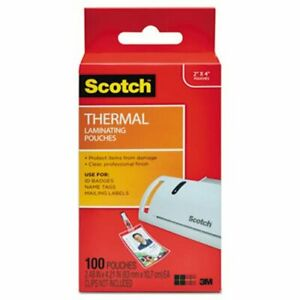 Scotch Thermal Laminating Id Badge Pouches 5 Mil 100 Poucches mmmtp5852100