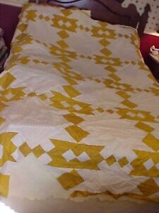 Vtg Rocky Road To California Quilt Top