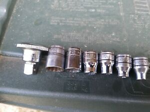 Snap On Tools Sockets And Thumb Wheel Ratchet Spinner Tools Lot