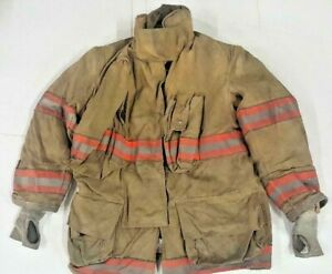 42x35 Globe Gx 7 Brown Firefighter Turnout Bunker Orange Jacket Coat Bunker J793