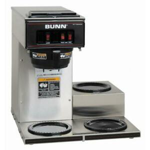 Bunn Coffee Maker Brewer Commercial 3 Lower Warmers 3l 12 Cup Stainless Steel