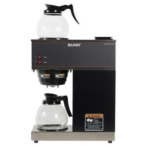 Bunn Coffee Maker Brewer Drip 2 Glass Decanters 12 Cup Commercial Basket Black