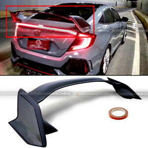 Fits 16 20 Honda Civic 4dr Sedan Type R Carbon Painted Side Trunk Wing Spoiler