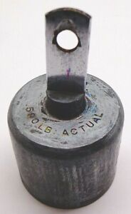 Old Balance Scale Lead Weight 2 Lbs Actual 590 Lb Free Shipping