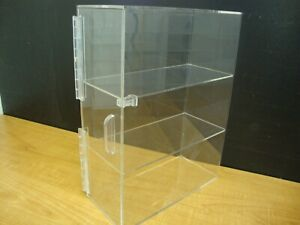 Displays2buy 3 Tiers Display W 3 Clear Trays Acrylic Bread Donut Bagels Cookie