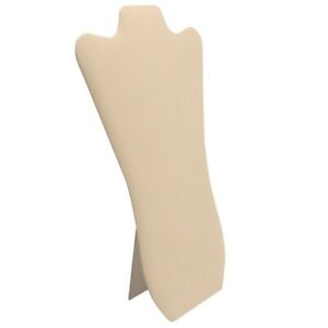 Beige Jewelry Necklace Chain Easel Stand Display Organizer Holder 14 Tall