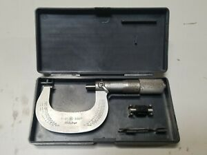 Mitutoyo 1 2 Outside Diameter Micrometer 101 118 Case Standard Wrench 0001