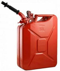 5 Gallon Nato Steel Gas Jerry Can Epa Carb Compliant Red New