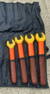 Cementex 1000v Insulated Open End Wrench Set 4 Pc Lg Oew 13 16 7 8 15 16 1