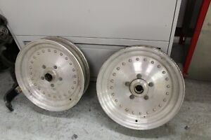 Pair Centerline Spindle Mount Rims 15 X 3 1 2 Anglia Spindle