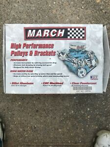 March Big Block Chevy Long Water Pump Serpentine Pulleys
