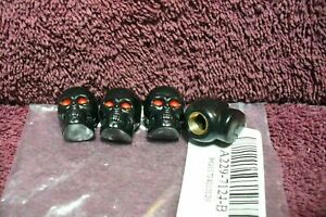 Nos Black Skull Valve Stem Caps Auto Truck Motorcycle Hot Rod Accessory 2