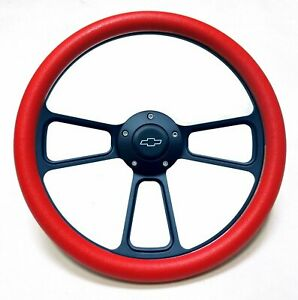 1960 1969 Chevy C10 Pick Up Truck Red Black Steering Wheel Chevy Horn