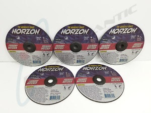 5 Norton Norzon 9 X 1 8 X 7 8 Type 27 Foundry Notcher Grinding Wheels Disc
