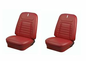 1968 Camaro Coupe Front Rear Deluxe Red Seat Upholstery Non Folding Rear Seat