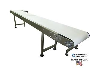 Dependable Equipments 10 X 16 Conveyor W Sanitary Table Top Belt made In Usa