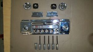 1956 Ford Thunderbird Oem Town And Country Radio Faceplate Knobs Buttons 55 57