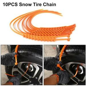 10pcs Anti Skid Chains For Snow Mud Car Truck Wheel Tyre Tire Cable Ties Kv