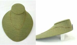 Jewelry Necklace Display Lay down Jewelry Neckform Display Bust Burlap Green