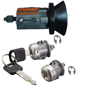 Ford Ignition Key Switch Lock Cylinder Two Door Lock Tumbler Set 2 Ford Keys