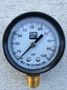 100 Lb Pressure Gauge For Water Well Submersible Or Jet Pumps