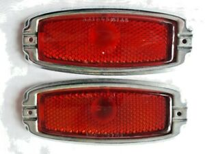 Vintage Chevy Stimsonite Red Glass Tail Light Guide R 1 1941 1948 Chevrolet