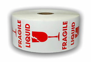 Wh rd Liquid Fragile Handle Caution Shipping Stickers 2 x3 500 Labels