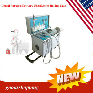 Brand new Dental Portable Dental Unit Metal Mobile Case 4holes