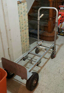 Milwaukee Aluminum Hand Truck Convertible With Dolly Wheels