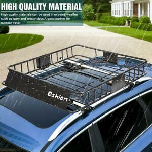 60 Universal Roof Rack W Extension Cargo Suv Top Luggage Carrier Basket Holder