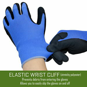 12 Pairs Knit Working Gloves With Micro Foam Coating Garden Gloves Construction