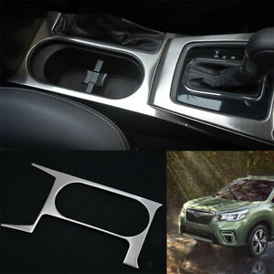 For Subaru Forester 2013 2018 Silver Titanium Central Console Water Cup Panel