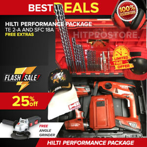 Hilti Te 2 a Sfc 18 a Professional Package Preowned Free Grinder Fast Ship