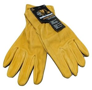 Leather Work Gloves Premium Wells Lamont All Purpose Free Shipping New
