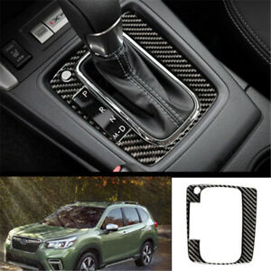 For Subaru Forester 2013 2018 Real Carbon Fiber Central Console Gear Shift Panel