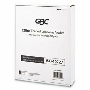 Gbc Laminating Pouch 5mm 8 5 X 11 Clear Glossy 200 Pouches gbc3740727