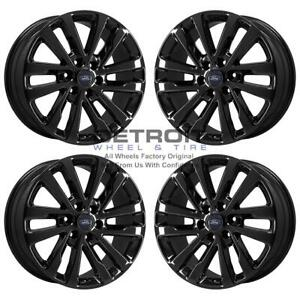 20 Ford Expedition Gloss Black Exchange Wheels Rims Factory Oem 10144 2005 2020