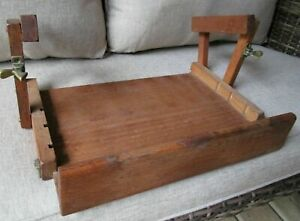 Vintage Farmhouse Shabby Wood Pull Out Down Under Cabinet Shelf Recipe Spices