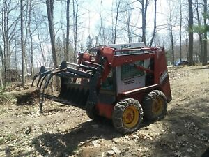 54 Root Rake Clam Grapple Attachment Fits Skid Steer Tractors