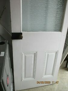 Interior Antique Wood Door Privacy Glass 28 X 77 Can Ship